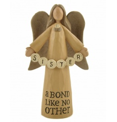 Sister. A Bond Like No Other. An adorable angel figure with sentiment slogan.