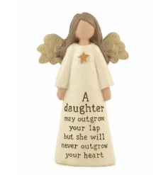 A gorgeous angel decoration with a beautiful daughter slogan. A great gift item!