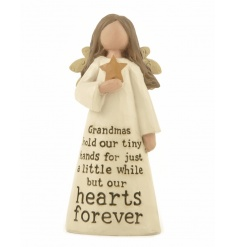 A beautiful angel decoration with a charming Grandma slogan. A great gift!