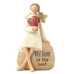 My aunt is the best. A beautiful sentiment decoration with sitting angel.