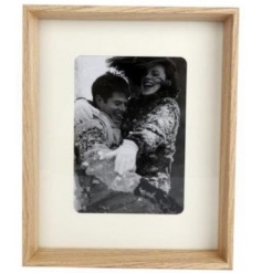 A classic natural wooden photo frame to fit a 5 x 7 sized photograph.