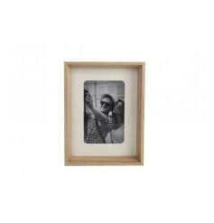 A classic natural wooden photo frame to fit a 4 x 6 sized photograph.