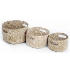 Set of 3 storage baskets, comes as large, medium and small