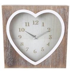 Lime Wash Heart Clock