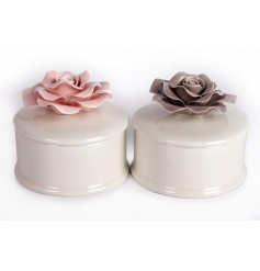 Delicate little trinket boxes with pretty ceramic roses