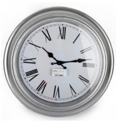 Silver Style Wall Clock, 40cm