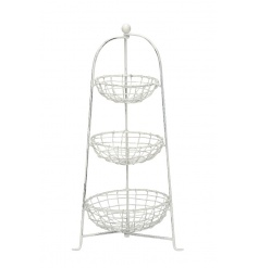 A white shabby chic style 3 tier storage unit. A great essential item for the kitchen and a fabulous merchandising tool.
