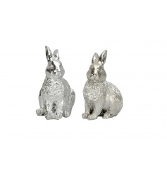 An assortment of 2 charming silver animal ornaments. A must have decoration this season!
