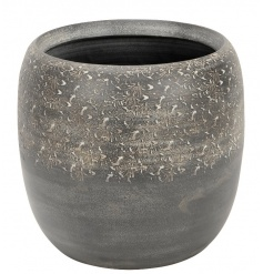 A stylish planter with a decorative grey washed finish. A stunning accessory for the home or garden.