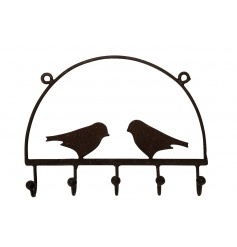 Keep tidy and organised with this decorative display of storage hooks.