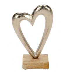 A fine quality wooden and metal heart ornament. A chic decorative item for the home.