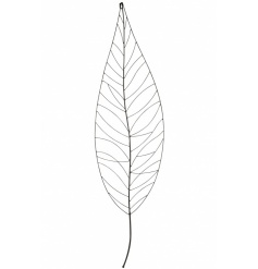 A contemporary metal leaf wall art decoration. The perfect way to create a statement in the home.