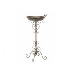 A fine quality bronzed bird bath freestanding decoration. A stunning garden accessory.
