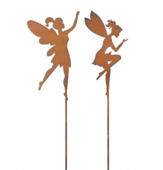 An assortment of 2 magical fairy stakes. The perfect addition to the garden, creating a whimsical look.