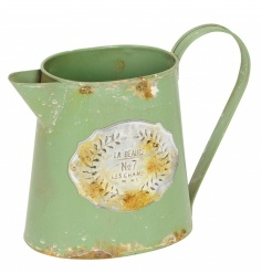 A charming Parisian inspired vintage jug with a distressed finish. Ideal for display, flowers and planting.