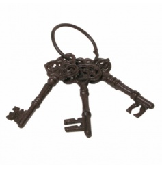 Decorative cast iron keys with an antique finish.