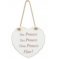 One Two Three Prosecco Plaque