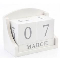 White sanded perpetual calendar