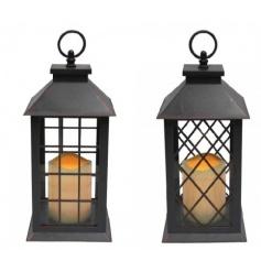 Plastic framed lantern with crossed windows