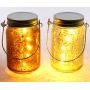 Beautifully cozy themed glass mason jars with fitted led lights