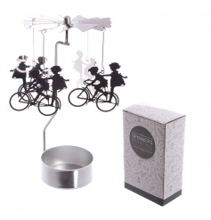 Fall in love with this charming t-light holder with spinner.