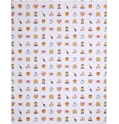 Add a touch of 21st century style to any wedding this year with this quirky Emoji themed wrapping paper.