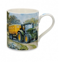 A fine china mug with a rural tractor design. Comes gift boxed.