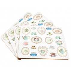 set of large placemats with a dainty vintage pattern