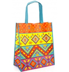 Funky multicoloured mayan themed shopper bag