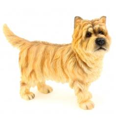 A fine quality dog figurine with gift box.