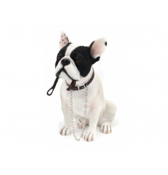 A fine quality black and white French Bulldog figure from the popular Walkies range by Leonardo.