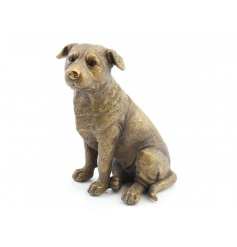 A fine quality bronze Staffie figure with a textured finish. A stylish decorative accessory.
