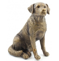 A fine quality bronzed reflections labrador figure with a bronze, textured finish.