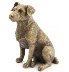 A fine quality bronze reflections Jack Russell figure.
