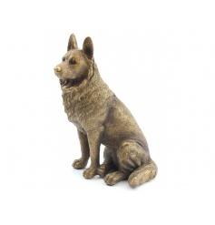 A fine quality bronze figure of a German Shepherd dog.