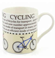 This cycling fact mug with illustration makes a great gift for lovers of the sport.