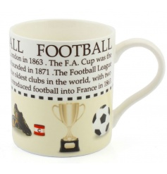 This football fact mug with sporting illustrations makes a great gift for lovers of the sport!