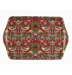 A practical and stylish small tray with the popular strawberry thief design.