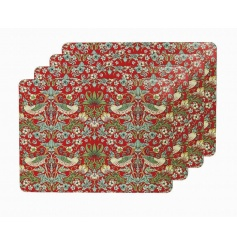 A set of 4 beautifully patterned placemats in the popular strawberry thief design.
