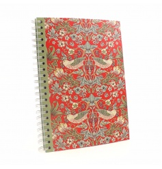 Stay organised with this stylish A4 notepad in the popular Strawberry Thief design by William Morris.