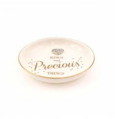 Rings and precious things trinket dish with heart gem detail. A fabulous gift and practical storage item.