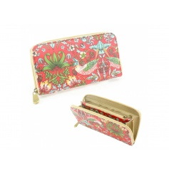 A stylish and practical wallet with plenty of compartments. Finished with the popular William Morris design, Strawberry