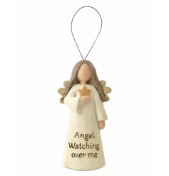 A beautiful hanging angel decoration with slogan an star feature.