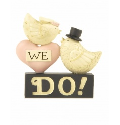 A pretty wedding ornament with Bride and Groom birds. A lovely gift and decoration.