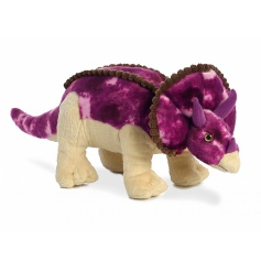 Cute and cuddly Triceratops plush soft toy