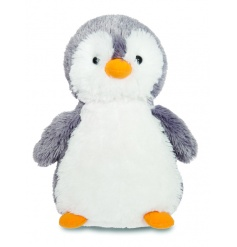 An adorable and super huggable frosty penguin soft toy.