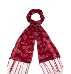 An assortment of 4 richly coloured scarves each with a sparkle leaf design. A lovely seasonal gift and fashion accessory