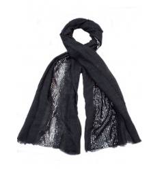 3 assorted glamorous scarves each with silver sequins. A great seasonal gift item and fashion accessory.