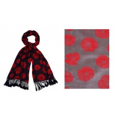 A mix of 3 gorgeous and bold poppy design scarves. A great gift and fashion accessory.