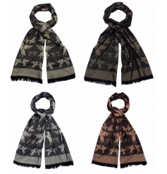 Wrap up this season with this gorgeous winged horse pashmina in 4 assorted colour designs.